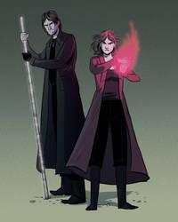 Wanda and Harry by helena-markos