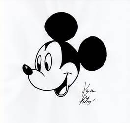 Mickey Mouse head study by KapanKatsuragi