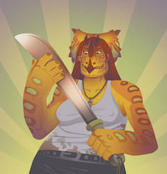 GOT ME A MACHETE by chasmosaur