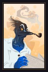 Papa Jaybird by chasmosaur