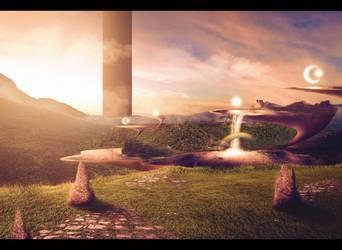Photomanipulation - Sword Art Online - Floor 1 by Dillios