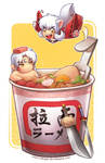 Inuyasha Cup Noodle Pool by wangqr
