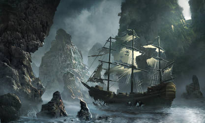 Ghost ship approaching by Matchack
