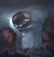 Teuloan Royal Airship on the way to the unknown by Matchack