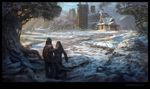 Hansel and Gretel - approaching hag's house by Matchack