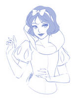 Snow White Sketch by Emily-Fay