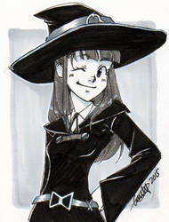 Inktober 001 - Little Witch Academia by Emily-Fay