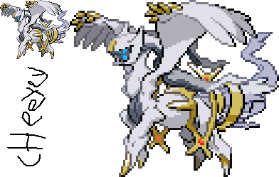 Poke-Fusion: Arceus with Reshiram plate by Cheeyev