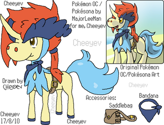 Kasey the Keldeo - Reference by Cheeyev