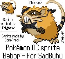 Pokemon OC sprite - SadBuhu's Bebop by Cheeyev