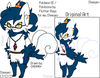 Alice the Meowstic - Reference by Cheeyev