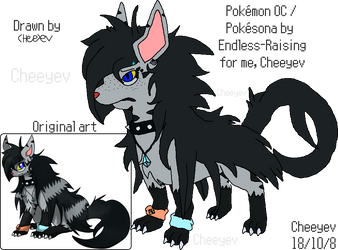 Akise the Mightyena - Reference by Cheeyev