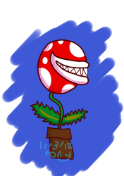 This drawing was made by the Piranha Plant Gang by TheInanimatePony