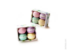 Romantic Macarons Earrings Post by allim-lip