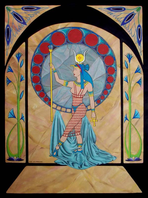 Hathor: Goddess of Love by A-D-McGowan