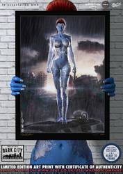 Mystique X-Men 'Dark City' Series by PaulSuttonArt