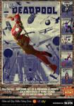 Lady Deadpool 'Pulp Friction in the Sky' Art Print by PaulSuttonArt