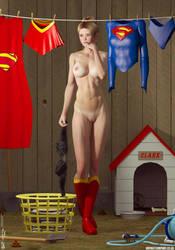 Supergirl's Washday by PaulSuttonArt