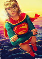 Supergirl, It's Lonely Up Here by PaulSuttonArt