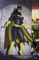 Batgirl 70s Retro by PaulSuttonArt