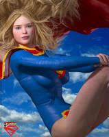Supergirl Strike a Pose by PaulSuttonArt