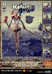 Harley Quinn 'Pulp Friction in the Sky' Art Print by PaulSuttonArt