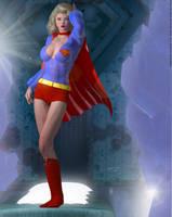 Supergirl Fortress of Solitude Retro 1970's by PaulSuttonArt