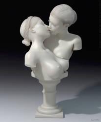 The Kissing Nymphs - Sculpture by PaulSuttonArt