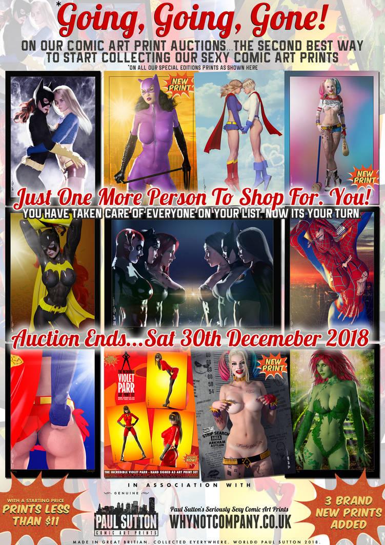 Going, Going, Gone! Sexy Comic Art Print Auctions by PaulSuttonArt