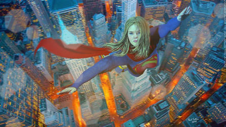 Supergirl Nightout by PaulSuttonArt
