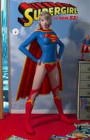 Supergirl New 52 'Teenage Bedroom Heroines' Series by PaulSuttonArt