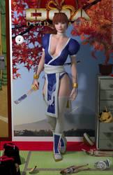 Kasumi DOA 'Teenage Bedroom Heroines' Series by PaulSuttonArt