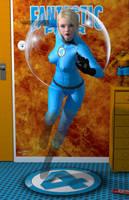 Invisible Girl 'Teenage Bedroom Heroines' Series by PaulSuttonArt