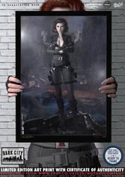 Black Widow Avengers 'Dark City' Series by PaulSuttonArt