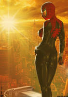 The Spectacular SPIDER-GIRL 'Sunset City' Series 3 by PaulSuttonArt
