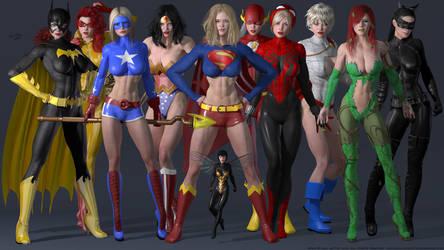The Superheroine Studio Collection by PaulSuttonArt