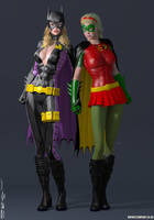 Batgirl and Robin, Stephanie Brown SSC by PaulSuttonArt