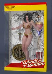 Wonder Woman Action Figure Doll by PaulSuttonArt