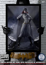 Batgirl (Black and Gold) 'Dark City' Series by PaulSuttonArt