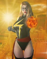 Ms. Marvel 'Sunset City' Series by PaulSuttonArt