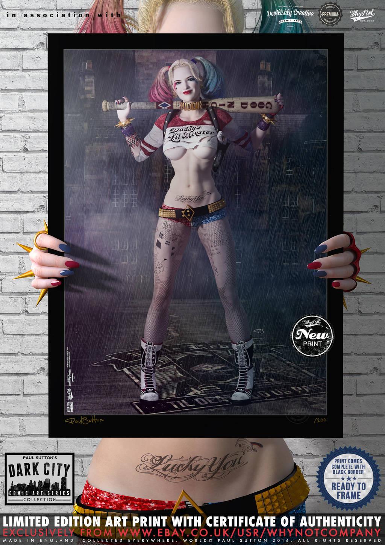 Harley Quinn - Suicide Squad 'Dark City' Series by PaulSuttonArt