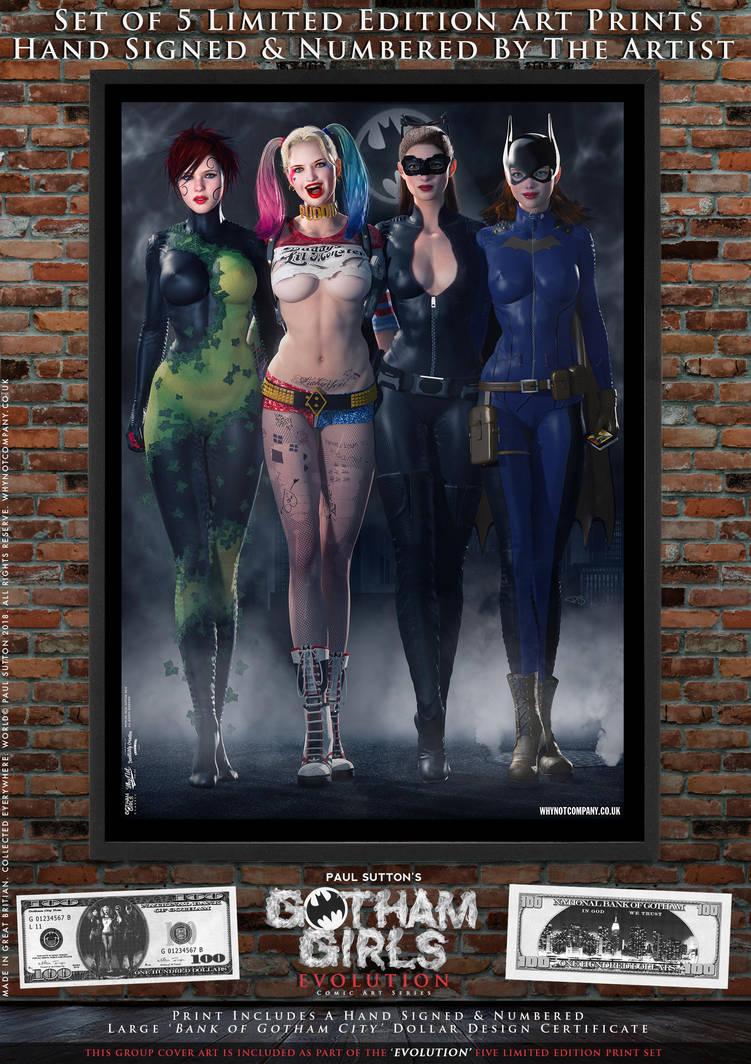 Gotham Girls Comic Series, Evolution Cover Art by PaulSuttonArt