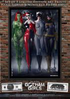 Gotham Girls Comic Series, Classic Cover Art by PaulSuttonArt