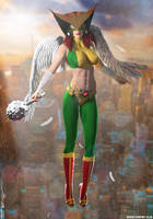 Hawkgirl 'Celestial Legend' by PaulSuttonArt