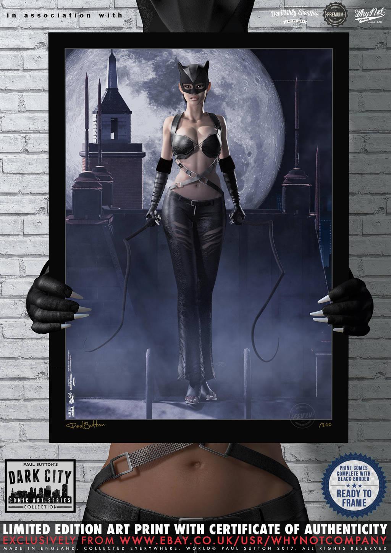 Halle Berry Catwoman 'Dark City' Series by PaulSuttonArt