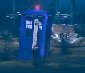 Underwater Police Box by Shango-ThunderStones