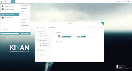 Kiyan, Minimalist Theme for Windows 7 (Concept) by kemoboydesign