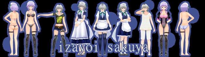 .: DL SERIE ARLVIT - IZAYOI SAKUYA :. by TsukiChanP
