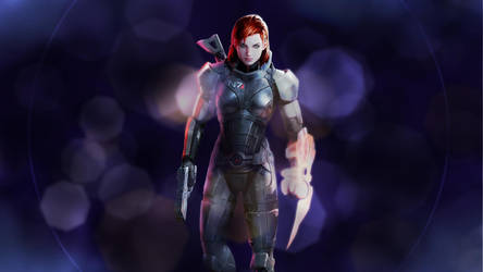 Fem Shepard Reaper interface by Stealthero