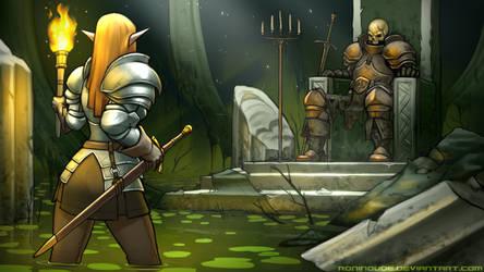 Drowned Throneroom by RoninDude